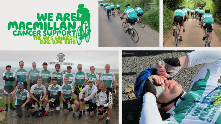Novo Altum Participating in the 2012 Macmillan Cancer Support Bike Ride