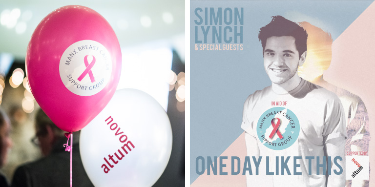 Novo Altum & Manx Breast Cancer Support Group's Simon Lynch Christmas Charity CD