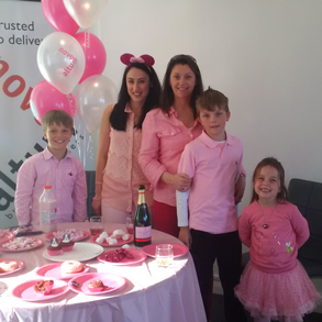 Novo Altum Office Pink Day for National Isle of Woman Pink Day