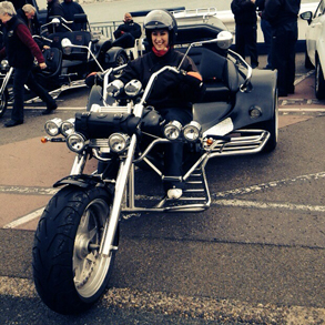 Black Trike Motorcycle Isle of Man