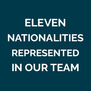 Eleven Nationalities Represented in Our Team