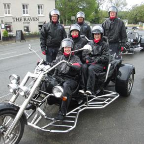 Novo Altum Team on Trike Motorcycle Isle of Man