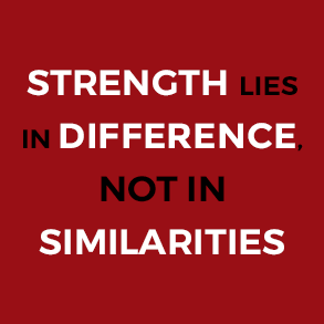 Strength Lies in Differences Not In Similarities